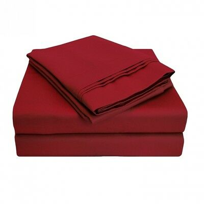 (Olympic Queen, Burgundy) - 1000 Thread Count 100% Egyptian Cotton, Olympic