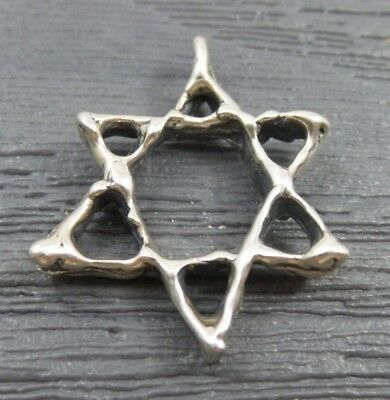 Vintage Sterling Silver Hand Made Open Star Pendant