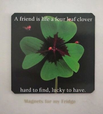 Quote:  A Best Friend Is Like A Four Leaf Clover Fridge Magnet- M333 F