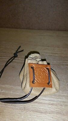 Medieval, renaissance, pirate leather coin purse. 481379