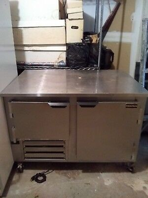 Cool Tech Stainless 2 Door 48 Inch Work Top Refrigerator Low Boy Coo:er (Used)