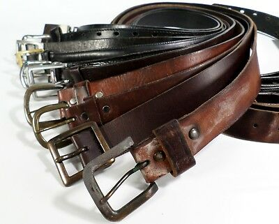 Lot of 10 Leather Belts Mens Reseller Wholesale Distressed Strap Black Brown