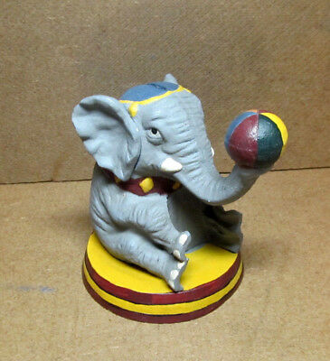 Cast Iron Circus Elephant Coin Bank