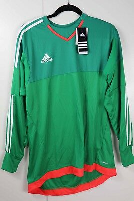 0070667695f Adidas Top 15 GK Goalkeeper Goalie Jersey Green Red S29440 Size LRG Large  NWT