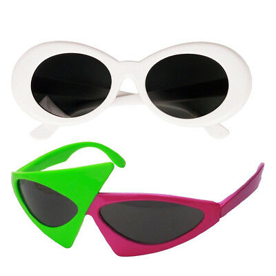 2/pack Funny Roy Purdy Sunglasses White Clout Goggles Glasses Kids Adults