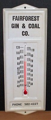 Vintage White Thermometer from Fairforest S.C. Gin & Coal Co.