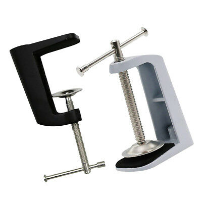 2Pcs Adjustable Arm Clamp Table Lamp Clip Base Holder Metal Stand