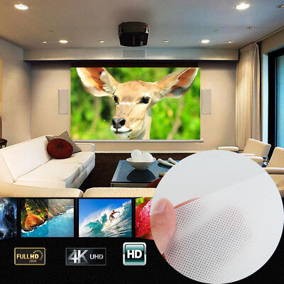 0AAD 16:9 Projector Screen Indoor Collapsible Compact Projector Curtain
