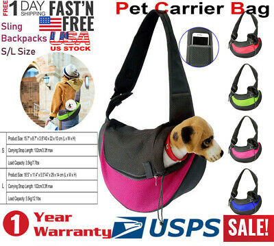 Carrier Bag Pet Dog Cat Puppy Comfort Travel Tote Shoulder Bag Sling Backpack