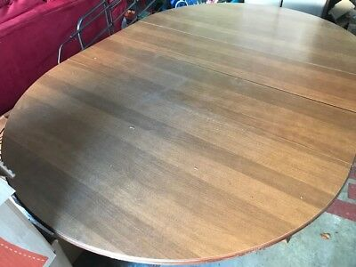 Tell City Hard Rock Maple Dining Table 2 Leaves + 6 Matching Chairs