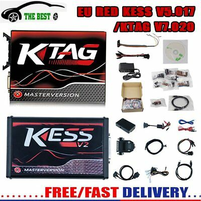 Ktag V7.020 + Kess V5.017 Obd Master Red Board Ecu Remapping Tool Scanner Car