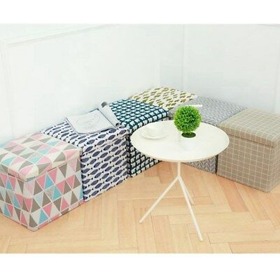 Storage Stool Multi-purpose Collapsible Practical Storage Ottoman Cube for Home