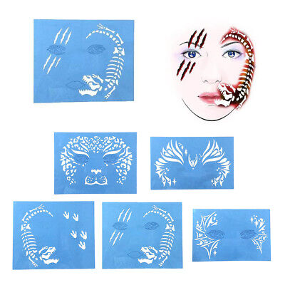 Face Paint Stencil Halloween Parties Make Up Reusable Face Painting Template
