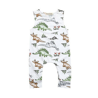Newborn Kids Cartoon Printed Romper Toddler Baby Boys Girls Jumpsuit Outfits