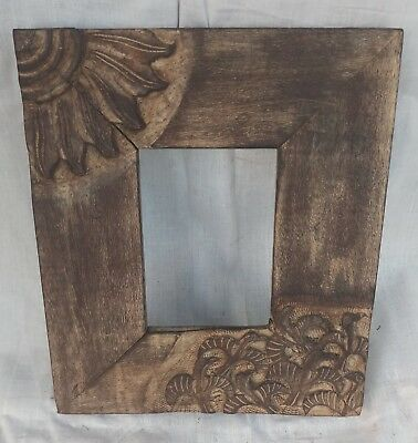 Vintage Unique Wooden Hand Made Carved Picture Photo Frame Collectible Art