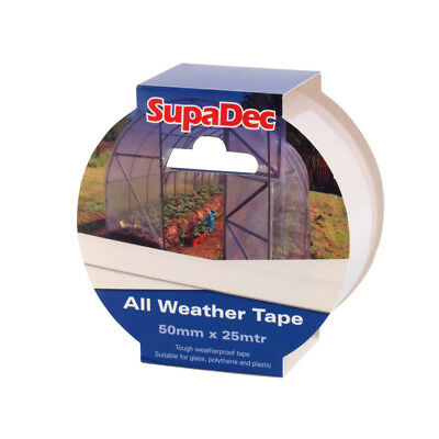 All Weather Clear Repair Tape For Window, Greenhouse & Polytunnel 50mm x 25m