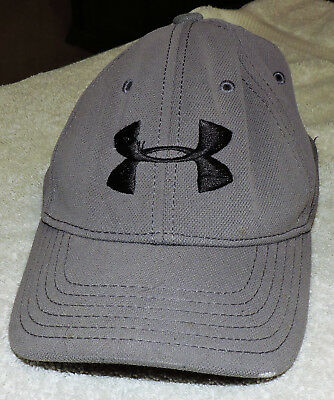 UNDER ARMOUR Youth Size Gray Hat With Black Logo