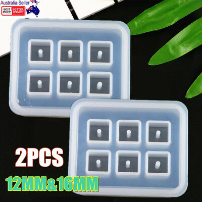 2pcs Silicone Gem Beads Moulds Mold Resin Jewellery Making Pendant Jewelry Craft