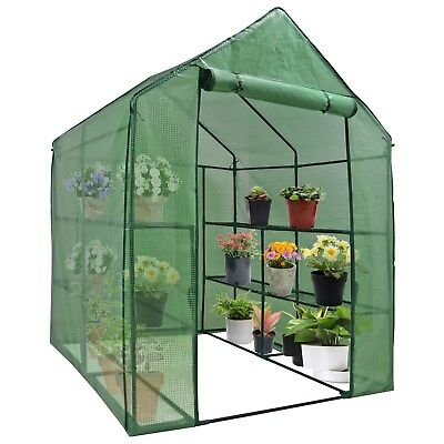 8 Shelves Greenhouse Portable Mini Walk In Outdoor 3 Tiers MINI Planter House