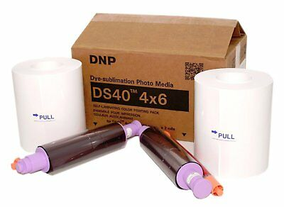 NEW DNP DS40 4x6 Media - 2 rolls 400 prints each