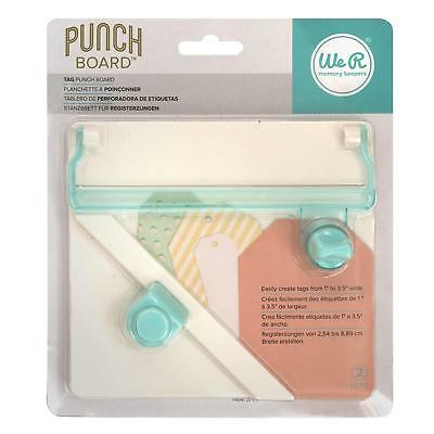We R Memory Keepers gift  tag making maker Punch Board 660248