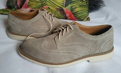 caabad36abcf Clarks RASPIN BROGUE GREY SUEDE Leather Suede Mens Shoes Size UK 7  41 worn  once