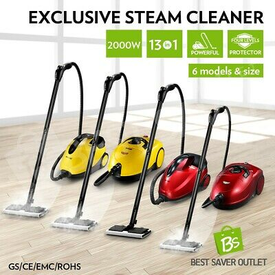 13 in 1 Powerful High Pressure Home Carpet Floor Window Steam Cleaner Mop 2000W