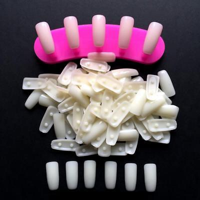 100 PCS Nail Art Removable Practice Tips For Training Display Stand Holder Tools