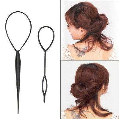 2 Piece Hair Braid Topsy Twist Styling Loop Ponytail Maker Styling Tool