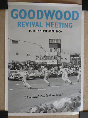 GOODWOOD REVIVAL MEETING POSTER  September 2000 ( A Magical Step Back In Time)