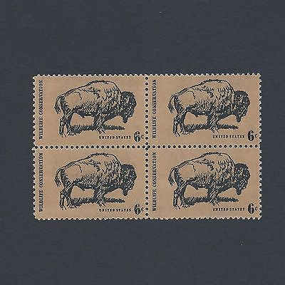 Wildlife Conservation: The Buffalo - Vintage Mint Set of 4 Stamps 48 Years Old!