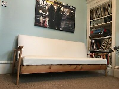 Vintage Reupholstered Guy Rogers Style Manhattan Sofa Bed