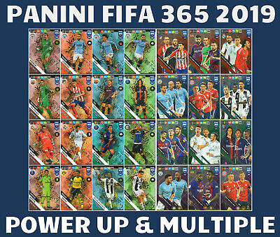 Fifa 365 2019 Power Up & Multiple Cards - Trio, Wall, Engine Panini Adrenalyn Xl