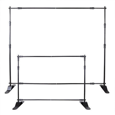 8' Banner Stand Advertising Printed Display Promotion Show Exhibition Telescopic