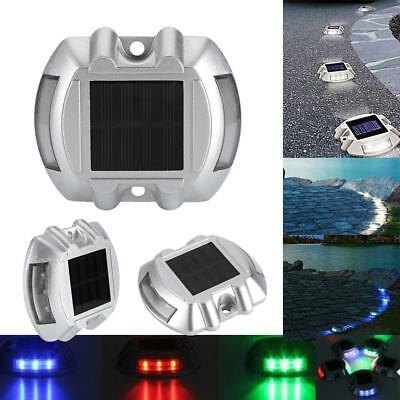 Solar Power Road Stud 6 LED Light Outdoor Garden Driveway Path Security Lamp