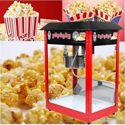 Professionnelle 8oz Popcorn Maker Hôtellerie Machine à Pop corn EU PLUG EY