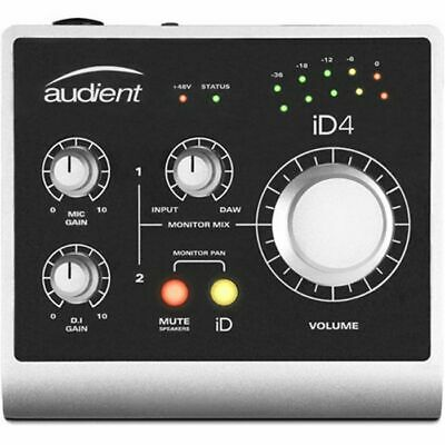 Audient iD4 2 In 2 Out USB Audio Interface With Scroll Control ***INCLUDES OV...