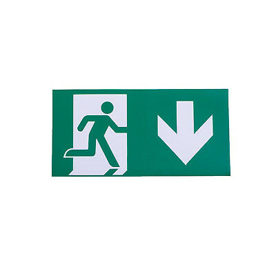 Straight Down to Right Arrow Exit Sign For Emergency Exit Sign Fixture Adhesive
