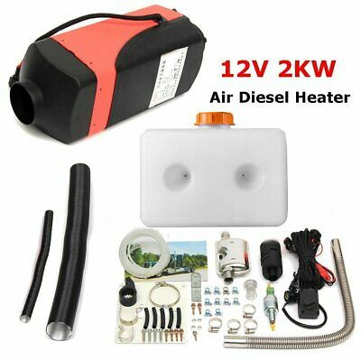 2000W 12V 2KW Hiver Voiture Air Heater Parking Diesel Chauffage + Silencieux