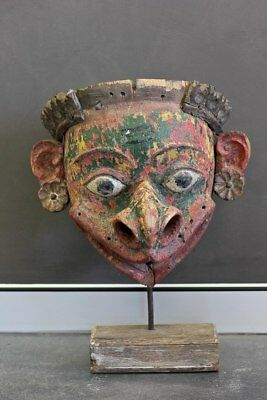 NEW Antique wooden mask- large