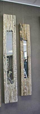 NEW Shabby Chic, Old railway track mirrors , set of 2