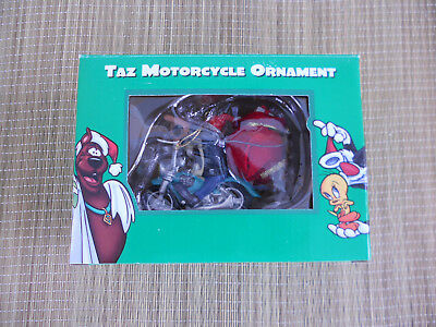 Taz Motorcycle Christmas Ornament, Warner Bros / Collectibles 1998 New In Box