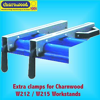 Pair of Tool Mounting Clamps for Charnwood W212 W215 Tool Stand Saw Workstation