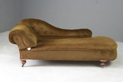 Antique Upholstered Chaise Longue Sofa Day Bed for Reupholstery