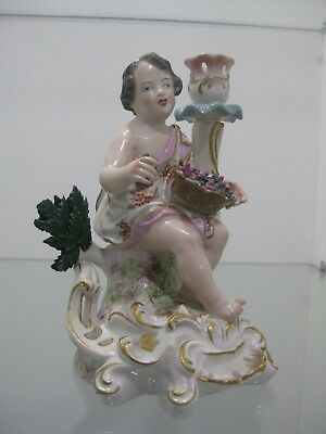 Antique 100+ Years Old Meissen Stunning Candle Holder Figurine