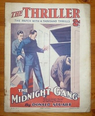 THE THRILLER No 26 Vol 1 3RD AUG 1929 THE MIDNIGHT GANG BY DONALD STUART