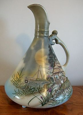 Vintage Nippon Ewer Pitcher with Moriage Accents. Excellent quality.