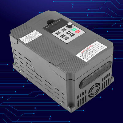 Useful 220V 2HP 1.5KW Single Phase To 3 Phase Output Frequency Converter VFD VSD