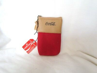 Coca Cola Wallet Pouch Vintage 1985 Collectible Official Licensed MINT