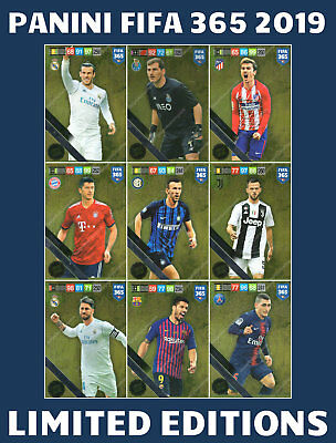 Fifa 365 2019 Limited Edition Cards - Panini Adrenalyn Xl Premium Gold Limited